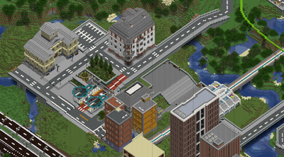 caption: Dynmap render of the town hall as of October 1st 2019