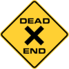 Dead End signs are yellow